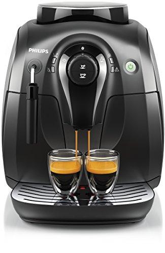 Philips HD8651/01 2000 Serie Kaffeevollautomat, klassischer Milchaufschäumer, schwarz