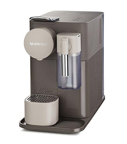 DeLonghi EN 500.BW Kaffeekapselmaschine Lattissima One mit unterschiedlichen Nespresso Kapseln, 1 L, 1400 W, 19 Bar, moccha braun