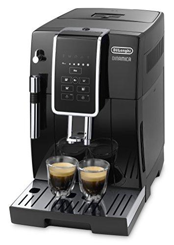 De'Longhi Dinamica ECAM 350.15.B Kaffeevollautomat (Digitaldisplay, Milchaufschäumdüse, Lieblingsgetränke auf Knopfdruck, Herausnehmbare Brühgruppe, 2-Tassen-Funktion) schwarz