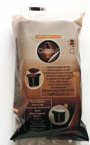 Capsul'in Befüllbare Kaffee Kapseln für alle Nespresso Maschinen (50 Stk.)
