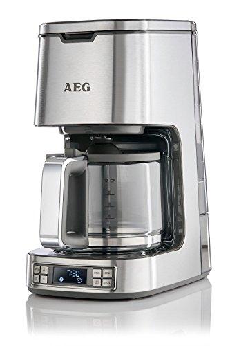 AEG Kaffeemaschine PremiumLine 7Series KF 7800 (HighContrast-LCD-Display, Programmierbarer (24h) Timer, Goldton Kaffeefilter, 1,5 L Glaskanne, Warmhaltefunktion, Abschaltautomatik, Edelstahl)